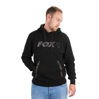 FOX - Mikina black/camo print hoody vel. XXL