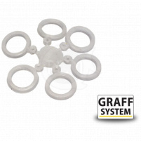 GRAFF - Silikonový kroužek průhledný, 9ks
