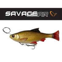 SAVAGE GEAR - Nástraha 4D Line thru pulse tail roach s trojháčkem 18cm / 90g