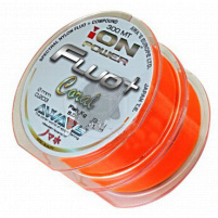 AWA-SHIMA - Silion ION POWER FLUO+ Coral - 0,203mm - 2x300m