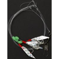 RON THOMPSON - Návazec Sea rig 6 / reflector UV / háček vel. 2/0 / vlasec 0,55mm