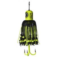 MADCAT - Sumcová chobotnička A-static Clonk Teaser s trojháčkem 150g - fluo yellow UV