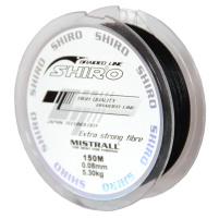 SHIRO - Pletená šňůra černá - 150m