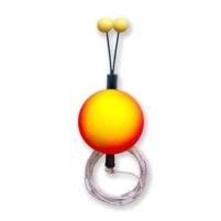 Bubeník - Číhátko odpadávací s provázkem  červeno/žluté 18mm