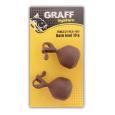 GRAFF - Back lead hnědý 2ks