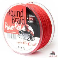 Hell-Cat Splétaná šňůra Round Braid Power Red, 1000m