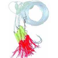 ICE Fish - Návazec na mořké okouny žluto/červený