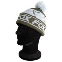 FOX - zimní Čepice Green Silver Loned Bobble