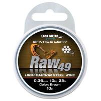 SAVAGE GEAR - Lanko Raw49 steel wire brown 10m / 0,45mm / 16kg