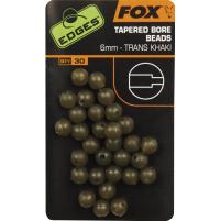 FOX - Gumové korálky Tapered bore beads Trans Khaki