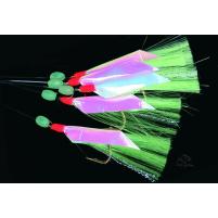 ICE fish - Třasně s folií bal: 5ks stříbrno/zelená