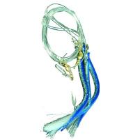 ICE fish - Trubička návazec mix 4/0 modro/stříbrná 3ks