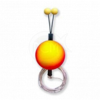 Bubeník - Číhátko odpadávací s provázkem  červeno/žluté 22mm