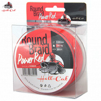 Hell-Cat - Splétaná šňůra Round Braid Power Red - 0,80mm - 100kg - 200m