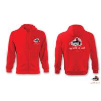 Hell-Cat - Mikina ze zipem červená
