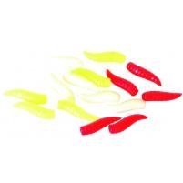 Carp system - Umělá nástraha Bílí červi (mix barev) - 25ks