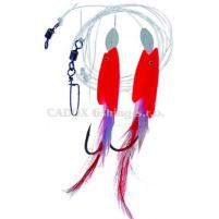 ICE fish - Návazec ryba - folie Červená 7/0 - 0,8mm 150cm