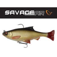 SAVAGE GEAR - Umělá Nástraha 3D Pulse tail roach s háčkem a trojháčkem 13cm / 38,5g - 2ks