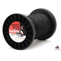 Hell-Cat Splétaná šňůra Round Braid Power Black - 0,70mm / 85kg - 1m