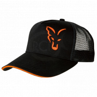 FOX - Kšiltovka Black/orange trucker cap