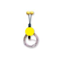 Bubeník - Číhátko odpadávací s provázkem žluté 30mm