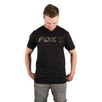 FOX - Tričko Black/camo print logo t shirt