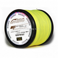SHIRO - Pletená šňůra žlutá - 0,23mm Návin
