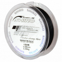 SHIRO - Pletená šňůra černá - 0,08mm 150m