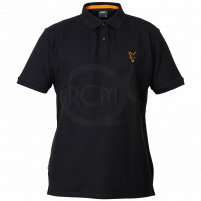 FOX - Tričko Polo Black/orange 2019 - vel. XXL