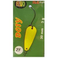 ICE Fish - Plandavka s jednoháčkem DOTY FLUO 3g / 3cm