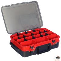 Hell-Cat - Kufřík plastový TB double layer červeno/šedý