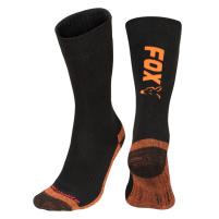 FOX - Ponožky Black/orange thermolite long socks