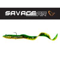 SAVAGE GEAR - Umělá nástraha 4D Real eel s háčkem a trojháčkem 20cm / 38g