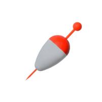 Bubeník - Splávek na štiky pevný 14g bílá/červená