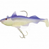 QUANTUM - Nástraha ryba Skrey shad 80g 12cm fluo/fialová jig + 2x ryba