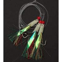 RON THOMPSON - Návazec Sea rig 5 / mackerel glow hokkai / háček vel. 2/0 / vlasec 0,55mm