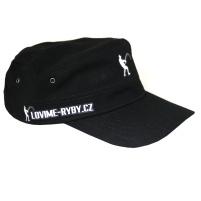 Lovime ryby - Kšiltovka Military cap s logem černá