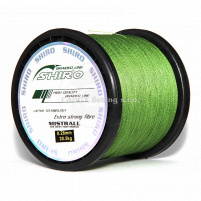 SHIRO - Pletená šňůra zelená - 0,19mm Návin