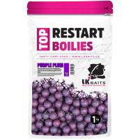 LK Baits Top ReStart Boilies Purple Plum  18 mm, 250g
