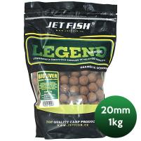 JET FISH - Boilie Legend 20mm 1kg -  ořech/javor