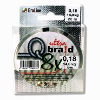BROLINE - Q-braid ultra - 0,08mm - 4,90kg - 2x 10m