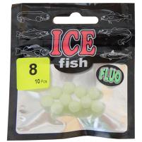 ICE fish - Fruoro korálky vel. 8 - 10ks