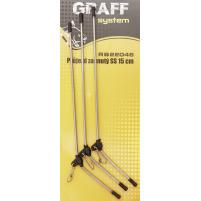 GRAFF - Průjezd zahnutý kovový 15cm - 3ks