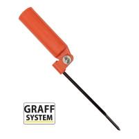 GRAFF - Držák prutu sklopný - Oranžový