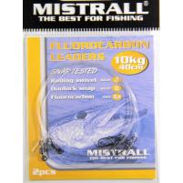 MISTRALL- Návazec fluocarbon - 40cm 10kg