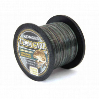 Konger - Vlasec Team Carp CAMOU DARK GREY - 0,25mm - 1000m