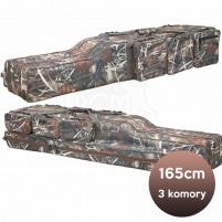 SURETTI - Pouzdro na pruty tříkomorové Camo - 165cm