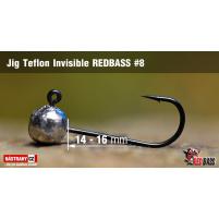Red Bass - Jig koule Teflon invisible 8