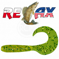 Relax - Gumová nástraha Twister 3 - Barva TS100 - blister box 5ks - 6cm