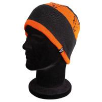Fox - zimní Čepice Black Orange Beanie